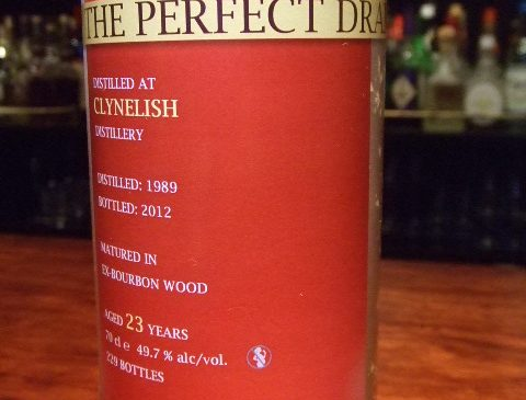 """ウイスキーエージェンシー""""The Perfect Dram""""クライヌリッシュ23年 49.7%"""