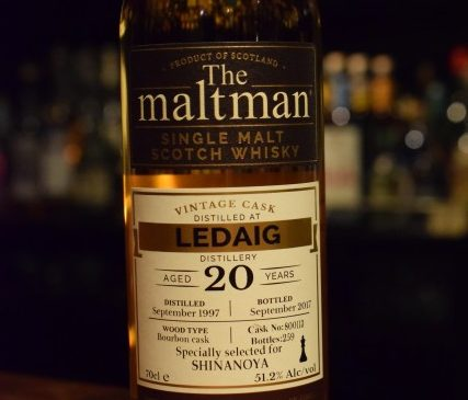 The Malt Man   Ledaig 20y  for SHINANOYA   51.2%