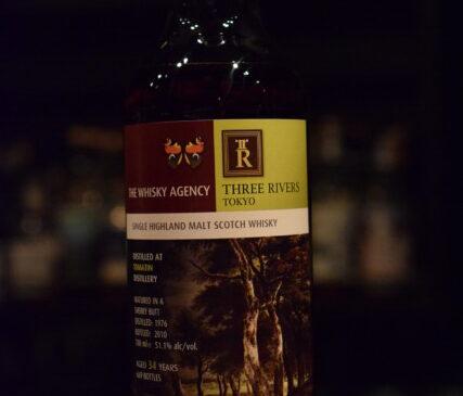 """ウイスキーエージェンシー """"アートワーク"""" トマーチン34年 for THREE  RIVERS"""